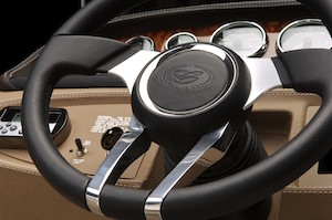 Black Leather/SS Steering Wheel