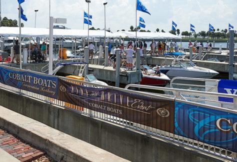 Cobalt Boats Display at the Tampa Bay Fall Boat Show