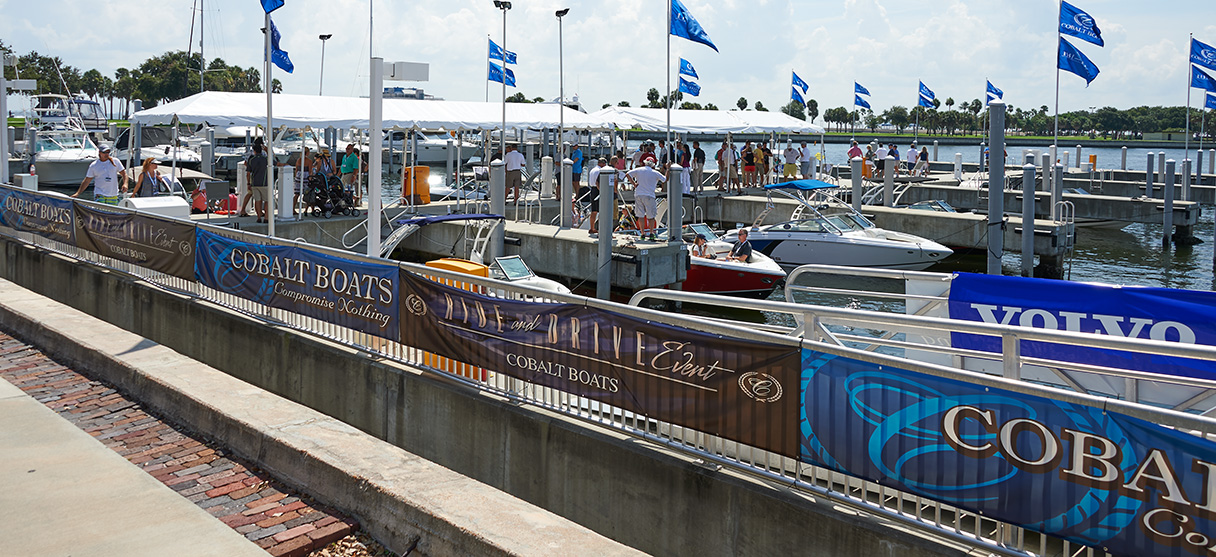 Cobalt Boats Display at the Tampa Bay Fall Boat Show