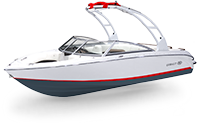 Cobalt 10 Series 200S White and Knockout Red and Shale Rendering