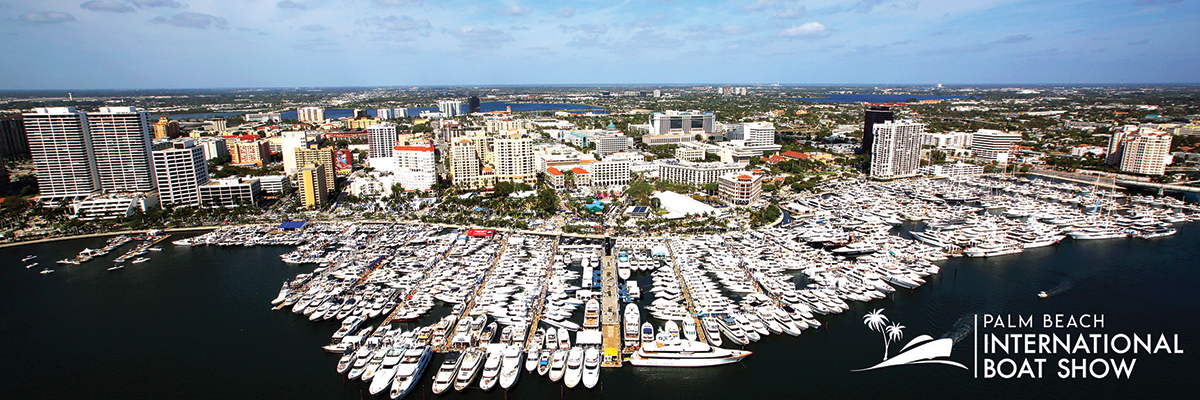Drone Shot of Palm Beach International Boat Show
