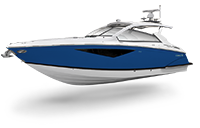 Rendering of Cobalt A Series A36BR in Marine Blue